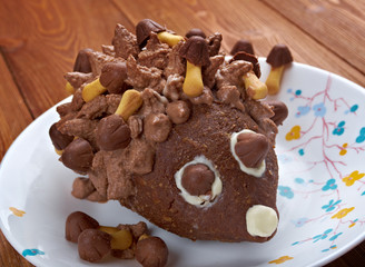Children's chocolate cake - Hedgehog