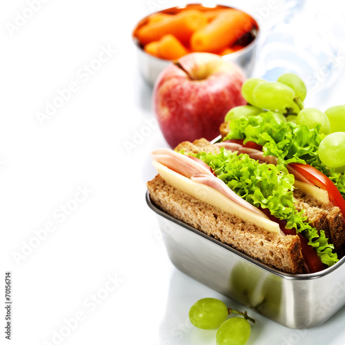 Staande foto Assortiment Healthy lunch