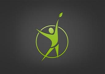 green Fit success logo, wellness center icon