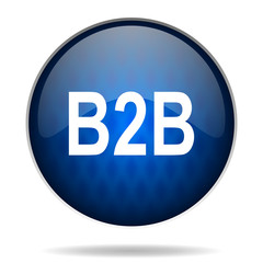 b2b internet blue icon