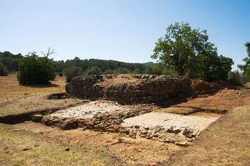 Ammaia roman city - Podium ruins