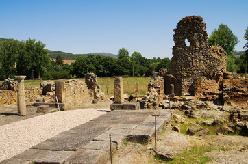Ammaia roman city square ruins