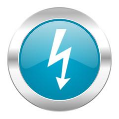 bolt internet blue icon