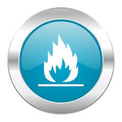flame internet blue icon