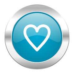 heart internet blue icon