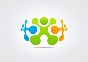 teamwork creative logoVector