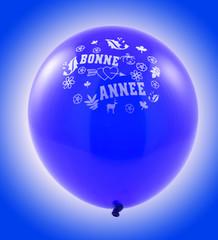 ballon bleu, bonne année