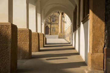 columns and arc with shadow