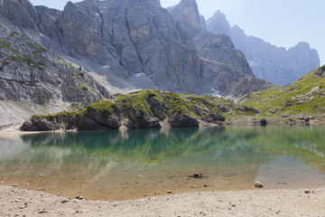 Coldai lake, in the Dolomites