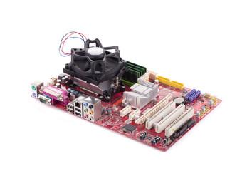 Top view of motherboard.