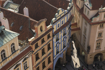 roofs and sun light  in Prague