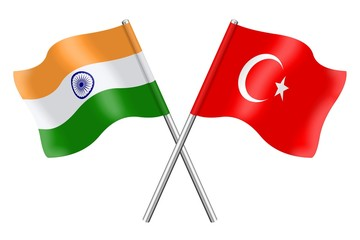 Flags: India and Turkey