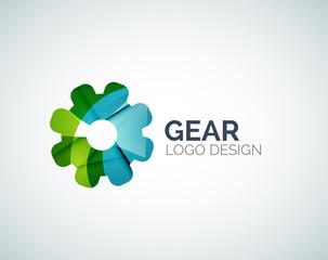 Gear logo design made of color pieces