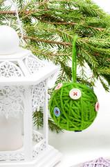 Christmas toy green ball