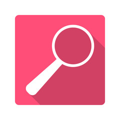 Flat design icon.magnifying glass