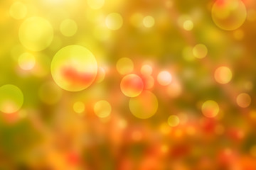 Autumn background with beautiful bokeh