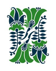 Floral design elements and page decoration. Art Nouveau style.