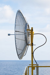 Satellite dish for communication in offshore