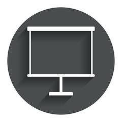 Presentation billboard sign icon. PPT symbol.