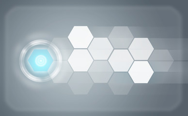Transparent hexagons and glow circles