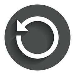 Repeat icon. Refresh symbol. Loop sign.