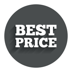 Best price sign icon. Special offer symbol.