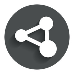 Share sign icon. Link technology symbol.