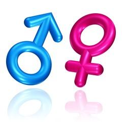 Symbole für Mann und Frau