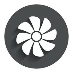 Ventilation sign icon. Ventilator symbol.