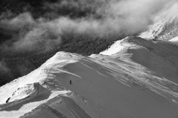 Krajobraz górski, zima