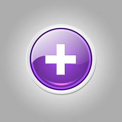 Plus Circular Vector Purple Web Icon Button