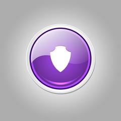 Shield Circular Vector Purple Web Icon Button