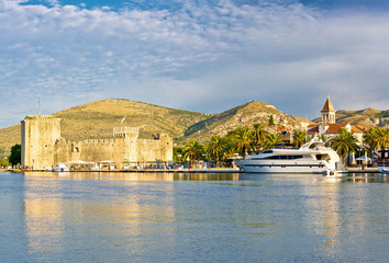 Trogir old citadel and waterfront view