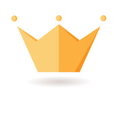 Crown. Symbol of power. Fabulous icon. Force. Isolated object. F