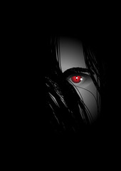 Evil eye lurking from the dark