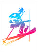 Vector illustration of a skier