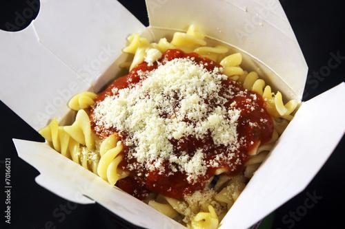 Fotobehang Restaurant Pasta Box