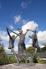children of lir statues