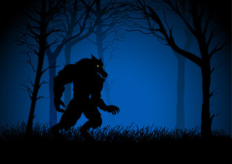 A Werewolf lurking in the woods