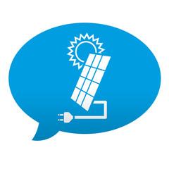 Etiqueta tipo app azul comentario simbolo energia solar
