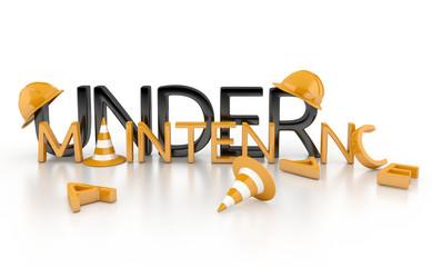 under maintenance 3d concept