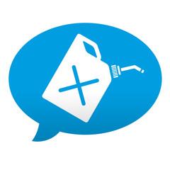 Etiqueta tipo app azul comentario simbolo bidon de gasolina