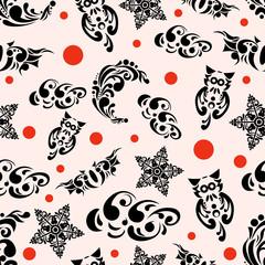 Halloween Flourish Pattern
