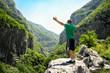 Man enjoying in beautiful nature