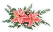 Poinsettia Flower Decoration
