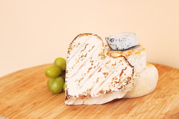 Collection of camembert cheese