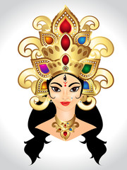 abstract godess durga