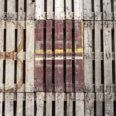 recycled painted wooden pallets