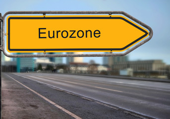Strassenschild 14 - Eurozone