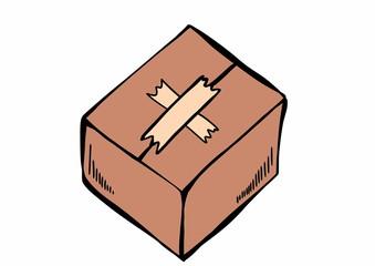 doodle cardboard box